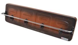 """Porte-serviettes Brabantia vintage en métal des années 70, """"shadow"""", deux tons de brun"""