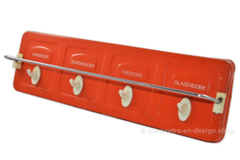 Vintage metal Brabantia 70s towel rack in orange