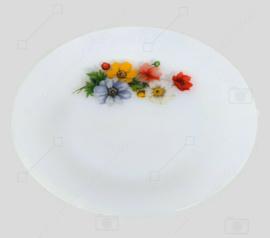 """Assiette plate vintage à motif floral """"Anémones"""" d'Arcopal France"""