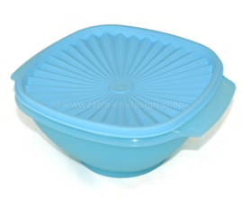 Light blue Tupperware Servalier bowl / Astro bowl with lid