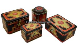 Set of four vintage Douwe Egbert coffee tins