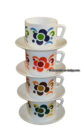 Arcopal france Knorr Tasse und Untertasse