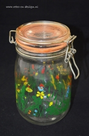 Glass canning jar