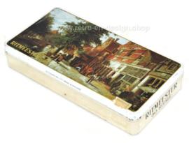 """Boîte à cigares rectangulaire de Ritmeester avec peinture d'image """"Vue de la ville à Enkhuizen"""" par Cornelis Springer"""