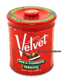 Vintage tin Velvet Pipe & Cigarette Tobacco