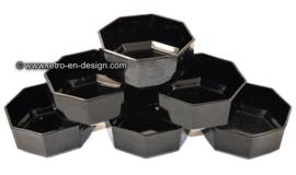 Dessertschale von Arcoroc France, Octime schwarz Ø 11,5 cm