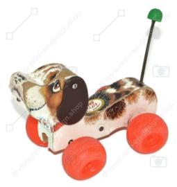 Perro de juguete de madera antiguo de Fisher-Price llamado Little Snoopy