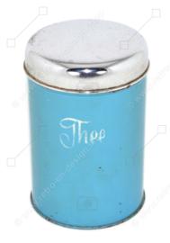 Récipient de stockage en étain pour le thé fabriqué par Brabantia vers 1955-1965