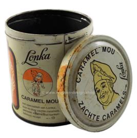 Vintage blikje Lonka zachte caramels, MOU