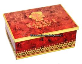 Vintage sigarenblik Karel 1, favorite