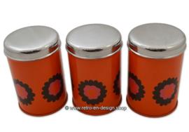 Vintage set Brabantia tins with 'Patrice' pattern