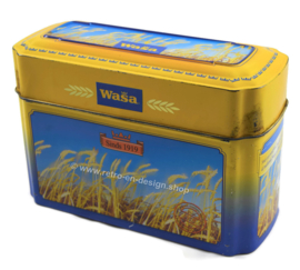 Tin box for Wasa Crackers with image of ripe grain