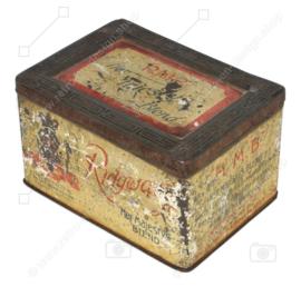 Boîte à thé anglaise vintage de Ridgways Ltd, HMB Her Majestys Blend