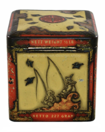 Vintage tin cube by NIEMEIJER for Pecco tea