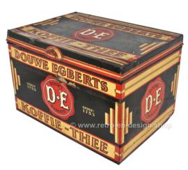 Groot rechthoekig winkelblik van Douwe Egberts voor Koffie en Thee