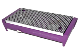 Vintage Brabantia rechaud or dish heater, purple