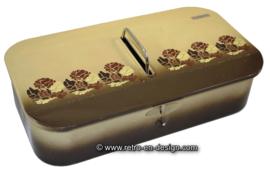 Caja de limpieza Vintage Brabantia en color crema / marrón con decoración floral