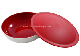 Tupperware Allegra bowl 750 ml, white/red