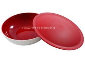 Tupperware Allegra schaal 750 ml, wit/rood