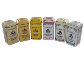 Complete series of six vintage tins by De Ruijter