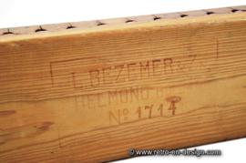 Vintage brocante sigarenplank, sigarenmal. L. Bezemer & Zn. Helmond