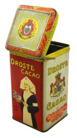 Vintage Droste cacaoblik met verpleegster, 1kg
