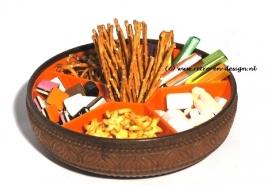 Emsa zes-vaks snack schaal uit de jaren '70