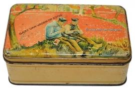 Vintage Van Nelle's Tabaksblik. Gaat van vader op zoon