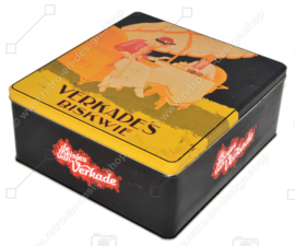 Lata de galletas nostálgica Verkade's Biskwie, las chicas de Verkade