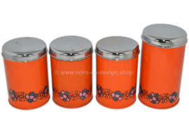 Set of four vintage Brabantia storage containers, Diana pattern