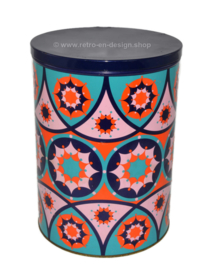 Vintage Tomado tin with psychedelic kaleidoscope effect