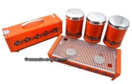 Retro-Vintage Brabantia set. Gingerbread tin, Burner stove, Stock containers