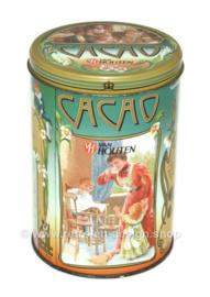 Vintage van Houten cacaoblik met nostalgische afbeeldingen