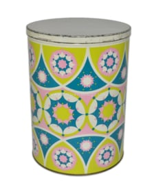 Vintage tin by Tomado with Kaleidoscope effect