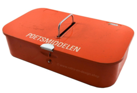 Vintage cleaning or polish box by Brabantia in orange