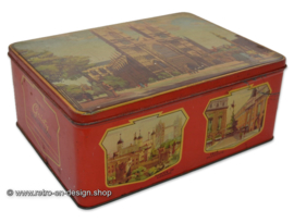 Vintage Jamesons chocolate tin with an image of Westminster Abbey
