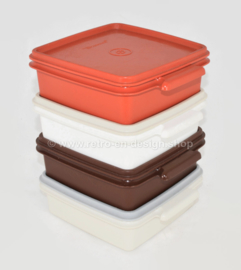 "Ensemble de quatre contenants Tupperware vintage - ""Snack Set"" de 1987"