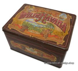 Grote vintage blikken sigarendoos van Hofnar voor Wilde Havana's