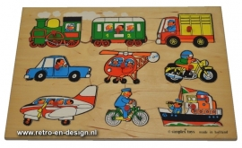 Old  wooden puzzle. Simplex toys, made in Holland