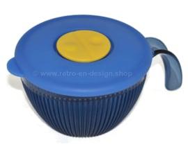 Tupperware Crystal + cuenco azul con asa y tapa