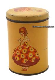 Vintage 1930 - 1950 Paula biscuit tin