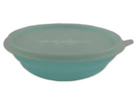 Vintage Tupperware Tazón de cereal de color pastel, azul