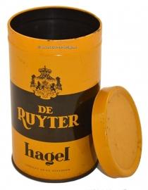 Vintage lata De Ruyter hagel, amarillo/marron