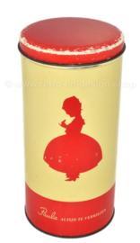 """Vintage beschuitbus van bakkerij Paul C. Kaiser """"Paula altijd te verkiezen"""""""