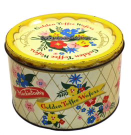 Vintage tin by Mackintosh. Golden Toffee Wafers
