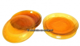 Arcoroc Sierra Glassware, Breakfast plates, dishes in Amber