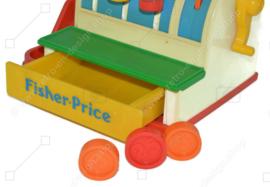 Vintage 70s Fisher Price Cash Register, Toy Cash Register