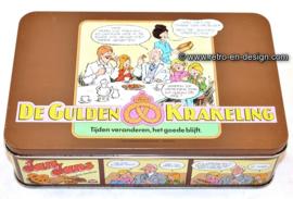 De Gulden Krakeling blik. Jan, Jans en de kinderen koektrommel