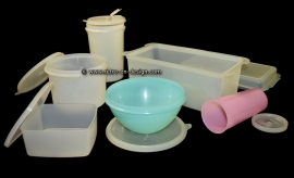 Retro vintage Tupperware for him and her. 1960s - 1970s