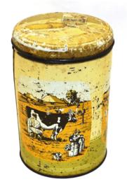 Vintage brocante beschuitbus Van der Meulen